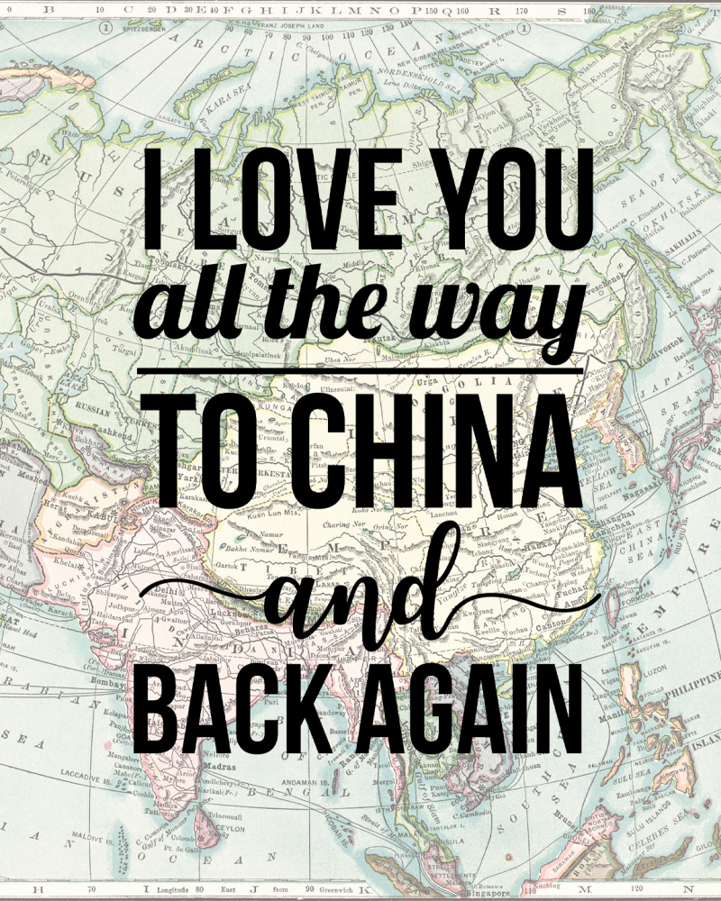 China Love Printable